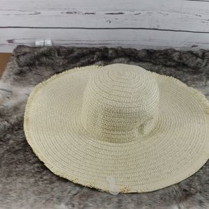 Accessories - Ladies Summer Floppy foldable Brim Straw Sun visor